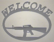 Welcome sign M16