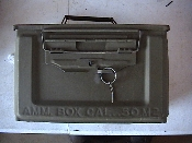 Side open 50 cal ammo can